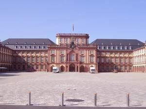 The courtyard of the palace at Mannheim