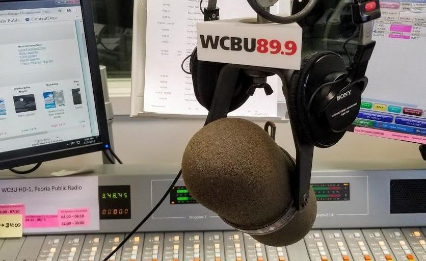 Broadcast board at WCBU in Peoria