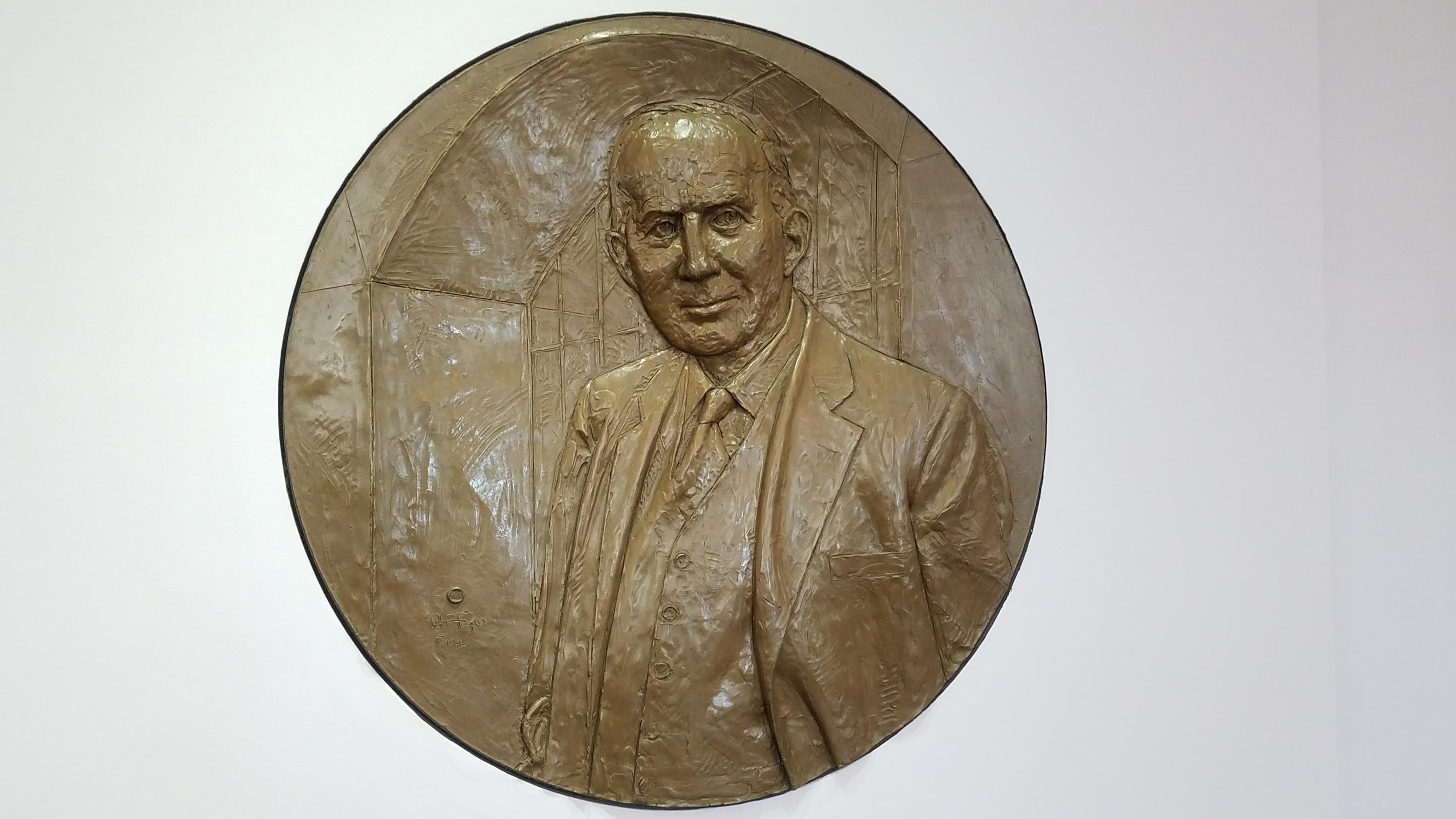 Relief sculpture of William W. Grainger.