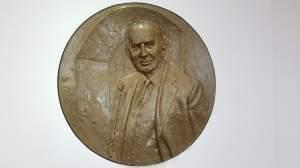 Relief sculpture of William W. Grainger.