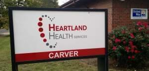 The Carver office of Heartland Health Services is located on W. John Gwynn Jr. Ave. in Peoria.