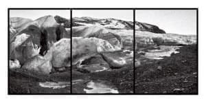 Photo of a melting glacier