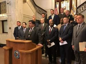 Gov. J.B. Pritzker unveiled a proposal that would increase fines and penalties for drivers who violate Scott's Law.