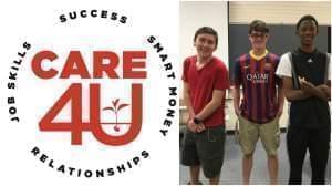 Care4U logo and photo of boys