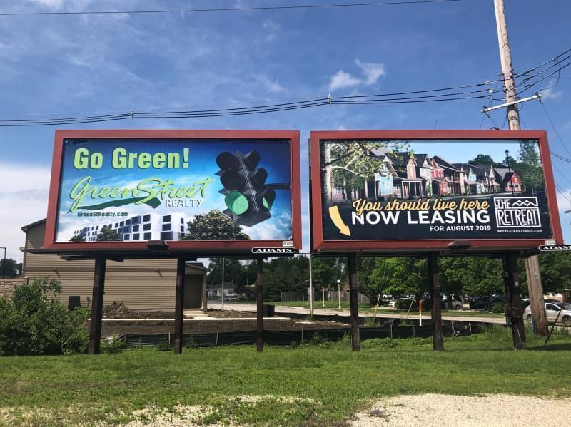 Billboards for apartments