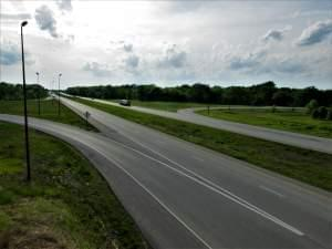 An interstate interchange near Springfield.