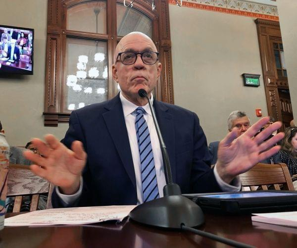 Illinois House Majority Leader Greg Harris, D-Chicago, outlines a $39.9 billion state budget plan to the House Executive Committee, Saturday, June 1, 2019.