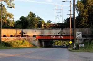 A bridge on the north side of Cairo Illinois.