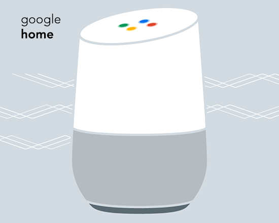 image of a Google Home device