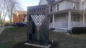 The Illini Chabad Center for Jewish Life in Champaign dedicated a new menorah in 2017. Made of steel and set deep in the ground, it replaced a version that was vandalized three times in two years.