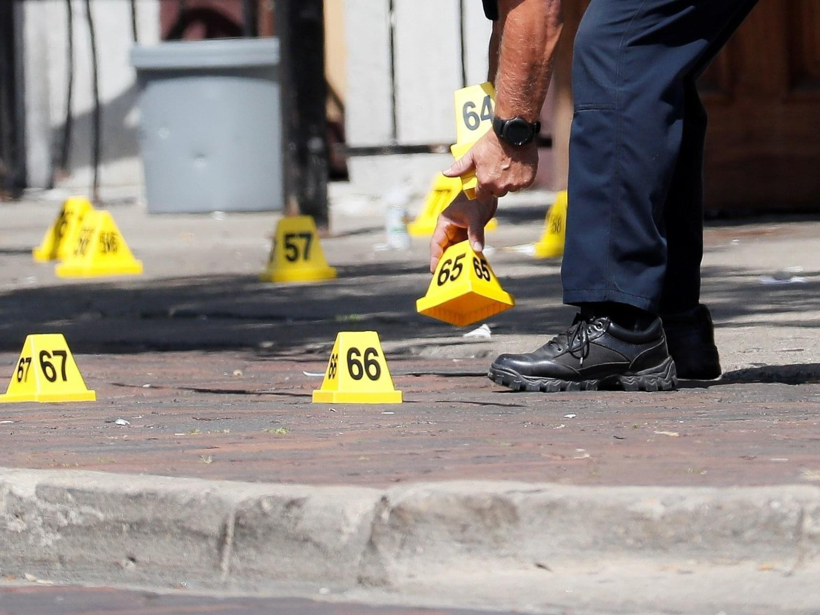 Authorities remove evidence markers