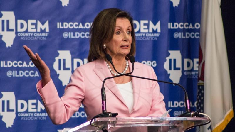 U.S. House Speaker Nancy Pelosi headlined a Democratic brunch Wednesday in Springfield.