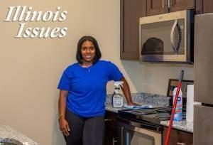 Jemiyah Beard is the owner of Mary's Master Cleaning Services in Champaign.