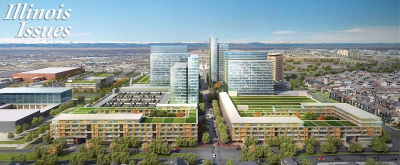 Artist rendering of the Stapleton airport redevelopment Project in Denver.