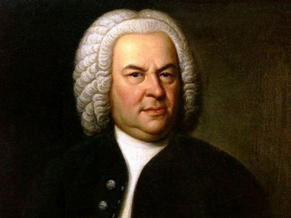 Johann Sebastian Bach (aged 61) in a portrait