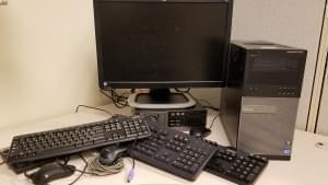 Various computer equipment, suitable for recycling.