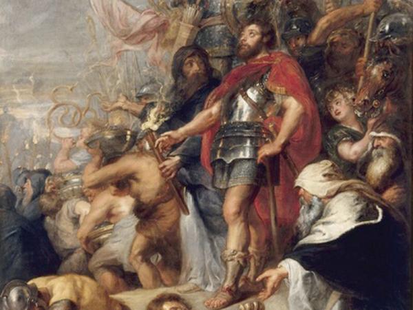 A painting of the Judas Maccabaeus opera.
