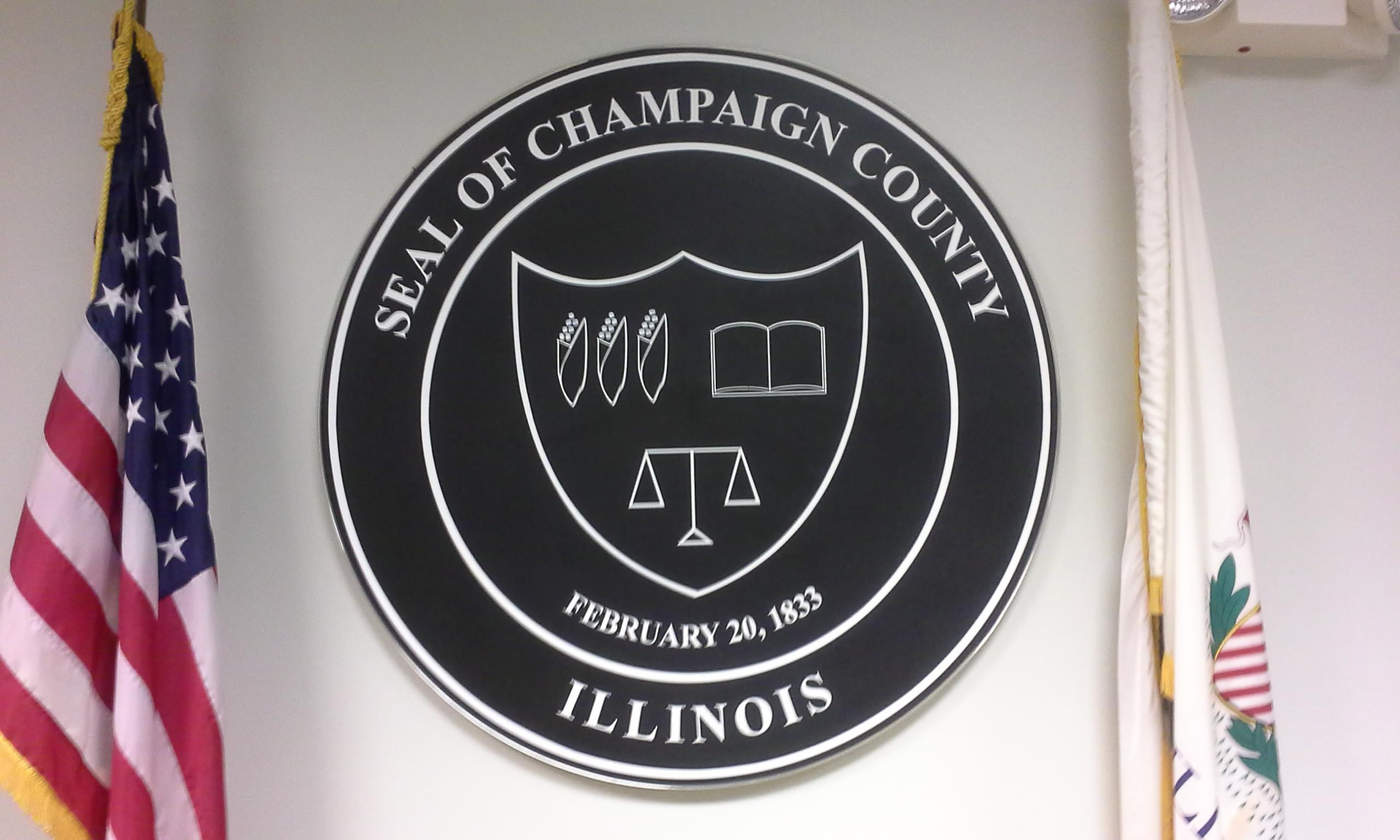 Champaign County seal.