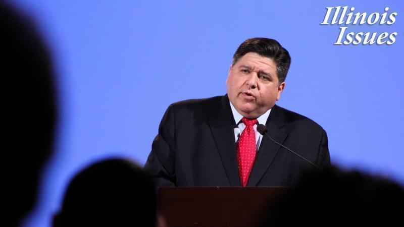 Gov. J.B. Pritzker speaks at a candidate forum in Peoria in this file photo from January 2018.