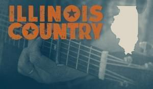"Picture of person playing guitar. Says ""Illinois Country."""