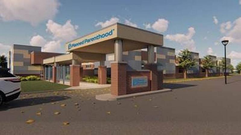 This is an architectural drawing of a clinic Planned Parenthood is scheduled to open this month in Fairview Heights in southwestern Illinois.