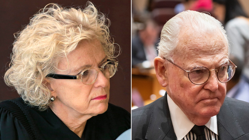 Illinois Supreme Court Justice Anne M. Burke listens to arguments at the Michael A. Bilandic Building in Chicago on Sept 10, 2013. Chciago Ald. Edward Burke at a Sept. 18, 2019, City Council meeting.