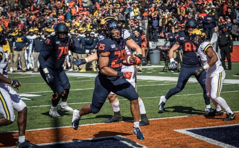 Illinois senior running back Dre Brown