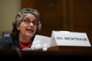 Federal Election Commission Commissioner Ellen Weintraub testifies on Capitol Hill in Washington in May.
