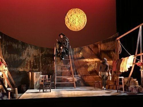 The set on stage for Opera Delaware's performance of I Tabarro.