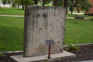 Section of the Berlin Wall at Eureka College.