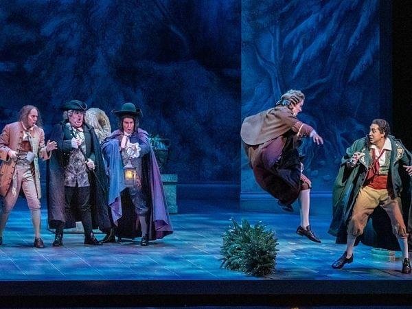 Performance of Marriage of Figaro on stage.