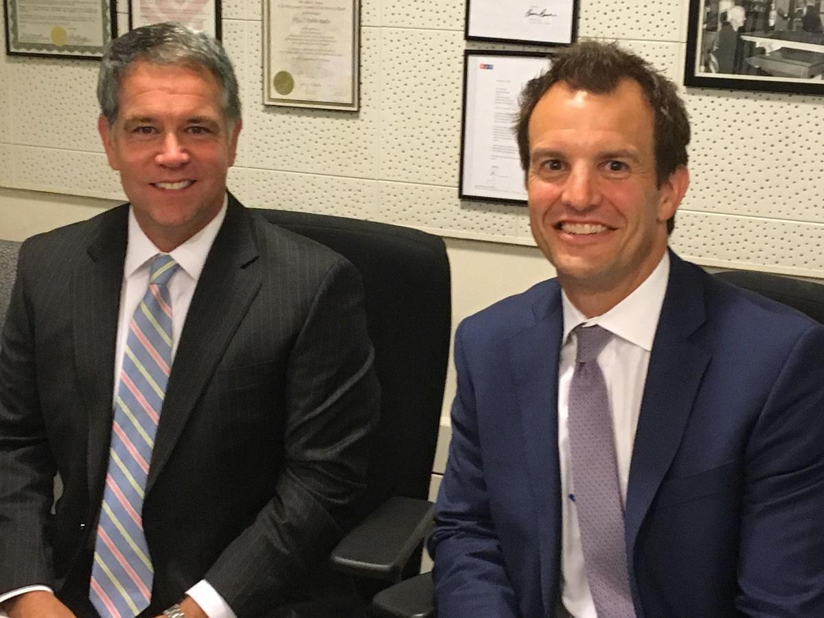 U.S. Attorney John Milhiser, left, and Assistant U.S. Attorney Adam Ghrist during a recent WGLT interview.