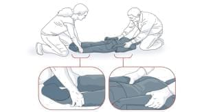 """This illustration of a """"prone"""" restraint came from a Minnesota Dept. of Education report on commonly-used restraints, and was featured in a 2014 ProPublica report. Minnesota enacted regulations to limit the use of prone restraint."""