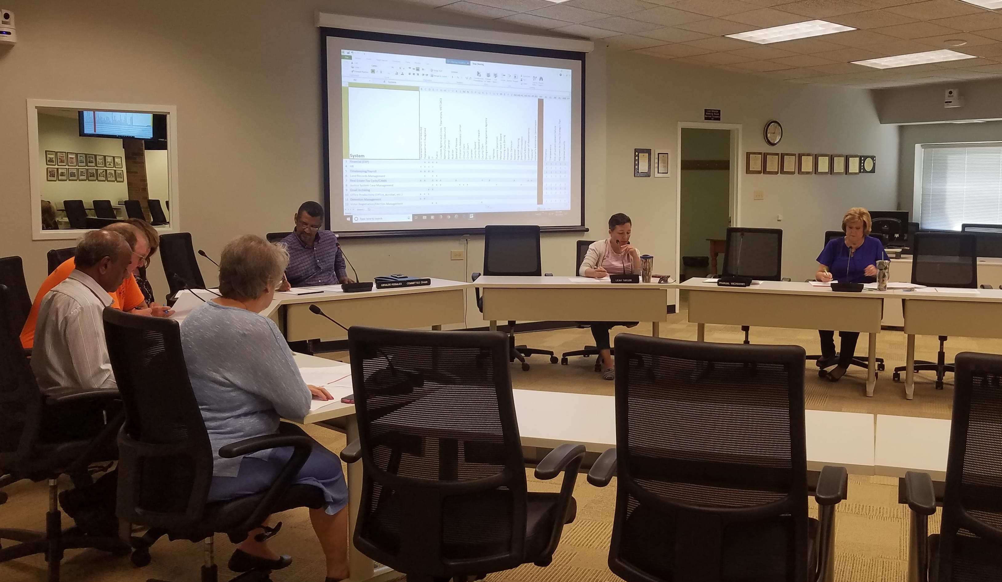 The Champaign County Board's I-T Planning Committee.