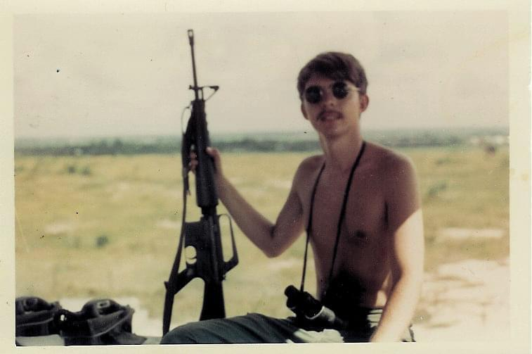 Jimmy McDowell poses for a photo while serving in Vietnam.
