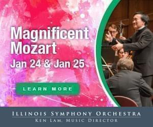 Illinois Symphony Orchestra Magnificent Mozart concert January 24 and 25