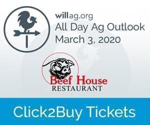 Click to buy tickets to the March 3rd 2020 All-Day Ag Outlooking meeting at the Beef House Restaurant.