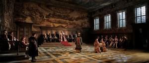 The Met Ensemble performing Verdi's Simon Boccanegra on stage.