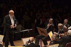 Krzysztof Penderecki conducting.