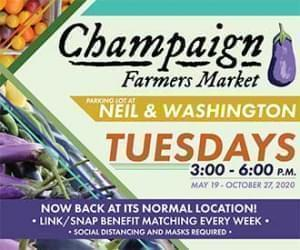 Champaign Farmers Market Neil and Washington - Tuesdays 3 to 6 pm