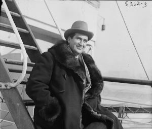 Albert Coates on a boat.