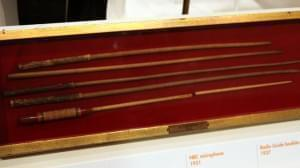 Batons used by Arturo Toscanini, on display at a Smithsonian museum.