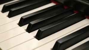 piano keys upclose