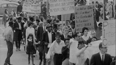 civil rights demonstrations in downtown Chicago in 1963