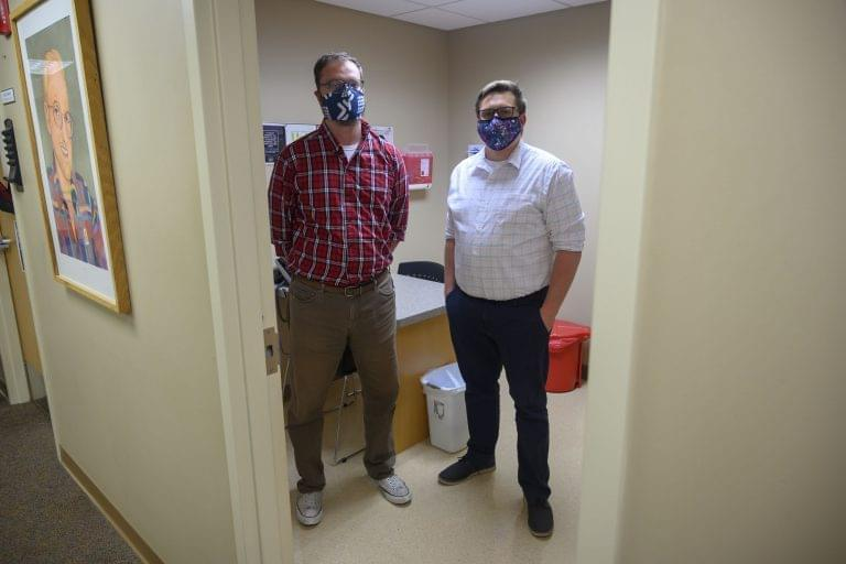 Noah Beacom and John Shaw of the Primary Health Care Clinic in Des Moines say STI testing has dropped sharply during the COVID-19 pandemic.