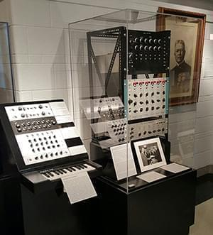 The original Harmonic Tone Generator and its next generation counterpart side by side in the Sousa Archive