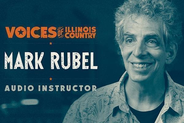 Voices of Illinois Country title screen for Mark Rubel