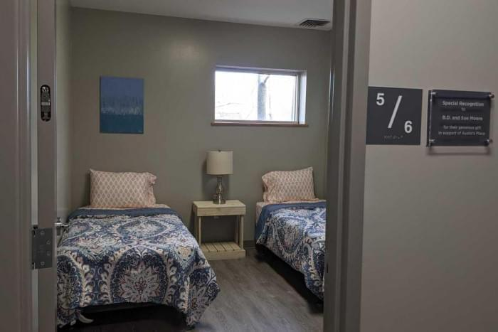 One of the rooms at C-U at Austin's Place, the new year-round emergency shelter for women in Champaign.