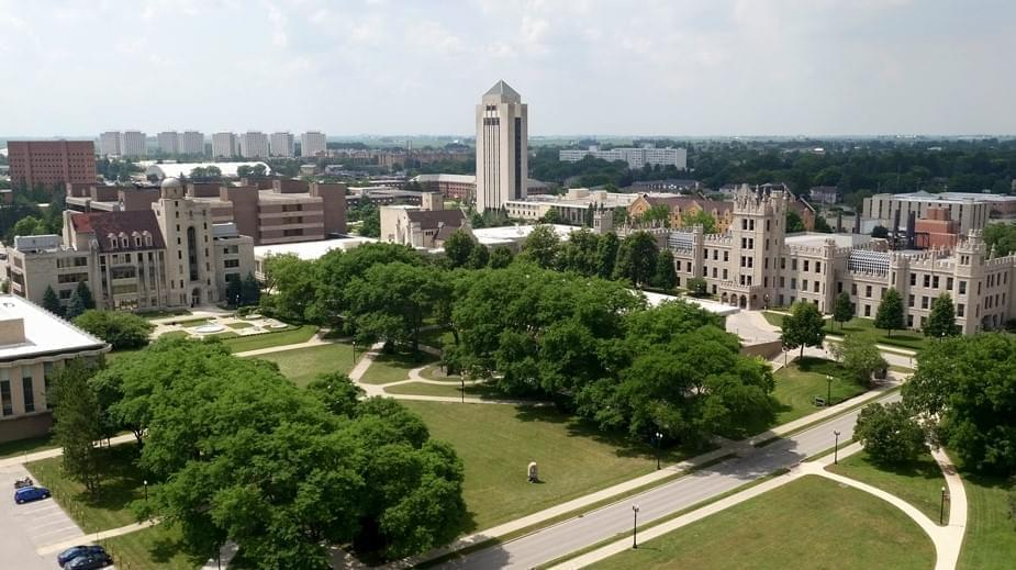 Northern Illinois University campus.