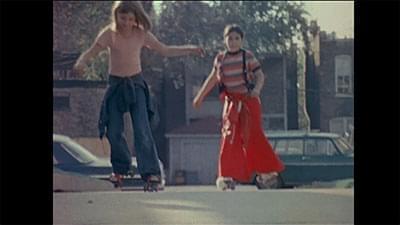 two children on rollerskates